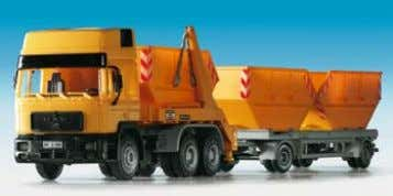Heavy duty tractor with crane MAN DB type 9 x 2,8 x 3,7 cm B-14403 MAN