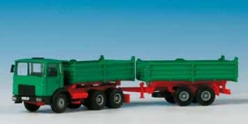 − MAN 3axle articulated container lorry 19 x 3,2 x 3,8 cm B-14040 MAN mit Tandemhänger