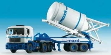 − Meiller Tipper with trailer 16,2 x 2,8 x 3,2 cm B-14028 Siloumsetzer MAXIT − MAN