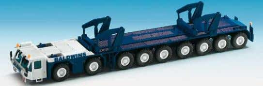 unit with SCHEUERLE low-loader trailer 22 x 3,5 x 4 cm B-13533 GOTTWALD Teleskoptransportfahrzeug −