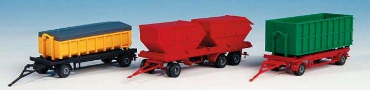 B-15706 Hängerset, Mulden − Trailer set -bucketts- 12 x 2,8 x 3,5 cm, 11 x