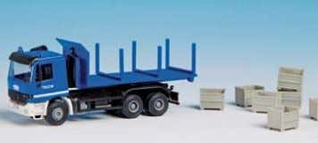THW MAN 2 axled unit with 3 axle trailer 18 x 3,2 x 4,5 cm B-18469