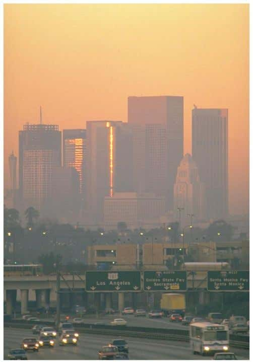 Nitrogen Oxides • What we recognize as smog, that brownish gas that hangs above large cities