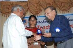 quite well in Telugu. Below: Madhav Saxena with teachers win of every sporting event in the