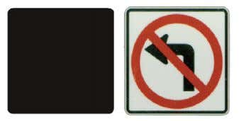 signs are placed on the left-hand side of two-way roads to aid the driver trying to