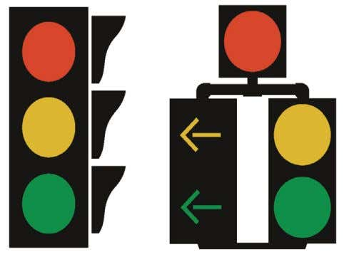 right-of- way at intersections and pedestrian crossings. Stop Lights are the two most common types of