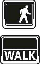 "and protect themselves by observing the following rules: ""Walk"" Sign: Many streets with significant pedestrian"