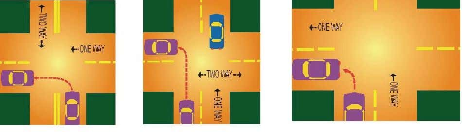 Turning left from a One-way street to a One-way street Signaling Your Intention to Turn Give