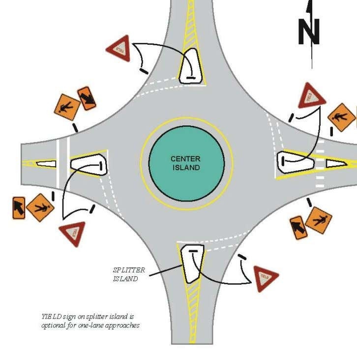 for Roundabout In tersection with One-Lane Approaches: Special Exception for Left Turns When the traffic signal