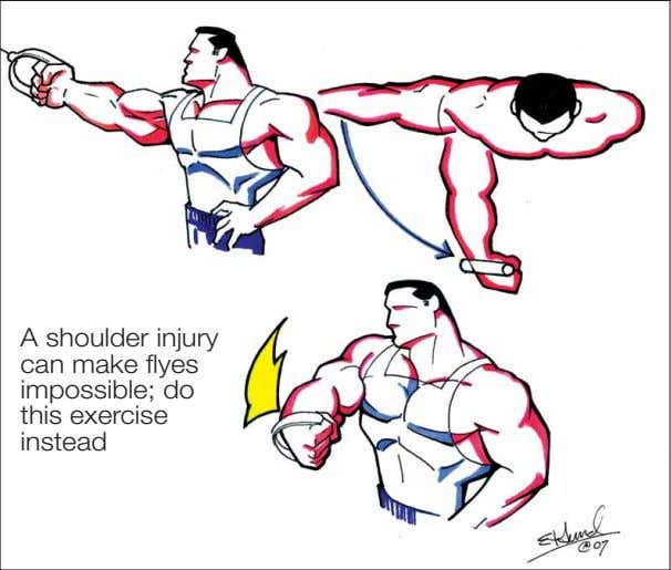 A shoulder injury can make flyes impossible; do this exercise instead