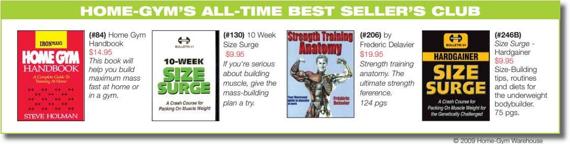 HOME-GYM'S ALL-TIME BEST SELLER'S CLUB (#84) Home Gym Handbook (#130) 10 Week Size Surge (#206)