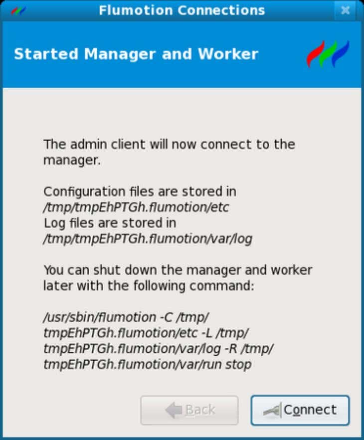 Quick Start Figure 2.3. Connecting to the new Manager You will now see the detailed Configuration