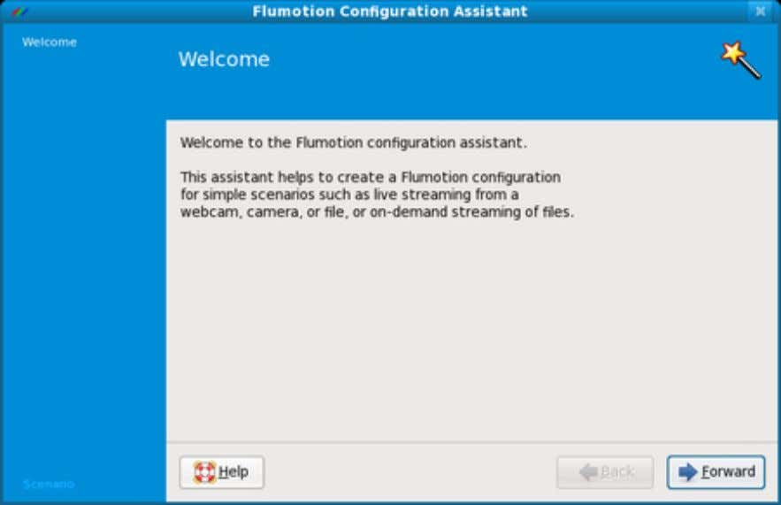 Figure 2.4. The Configuration Assistant's Welcome Page Click the Forward button to see the first real