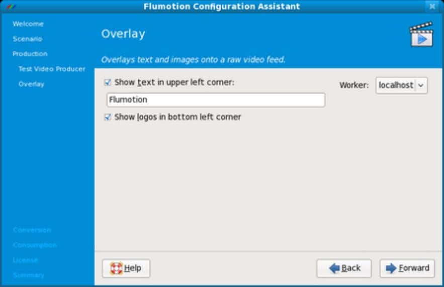 Figure 3.7. The Configuration Assistant's Overlay Page On the following Sound Card page, you can configure