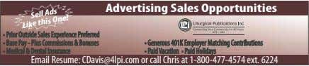 Advertising Sales Opportunities Sell Ads Like this One!
