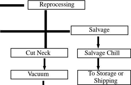 Reprocessing Salvage Cut Neck Salvage Chill Vacuum To Storage or Shipping