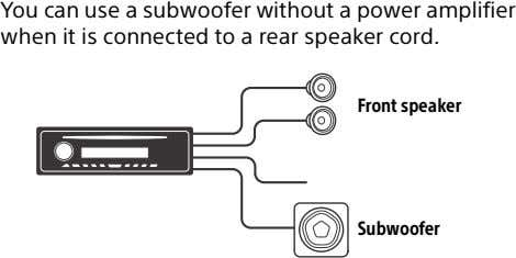 You can use a subwoofer without a power amplifier when it is connected to a