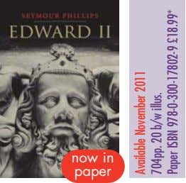 now in paper Available November 2011 704pp. 20 b/w illus. Paper ISBN 978-0-300-17802-9 £18.99*