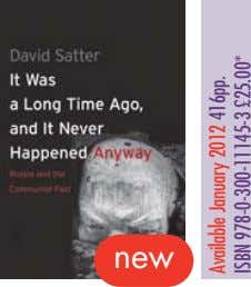 new Available January 2012 416pp. ISBN 978-0-300-11145-3 £25.00*