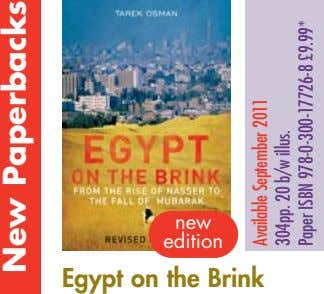 new edition Egypt on the Brink New Paperbacks Available September 2011 304pp. 20 b/w illus.