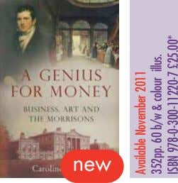 new Available November 2011 352pp. 60 b/w & colour illus. ISBN 978-0-300-11220-7 £25.00*
