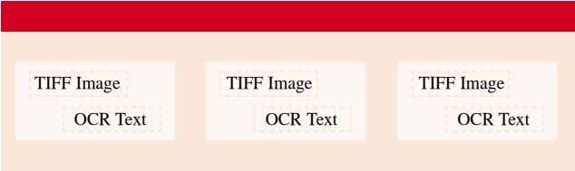 below shows the structure of this type of PDF file: Page 1 PDF Header TIFF Image