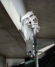 to guarantee the best RF coverage in any environment. A picocell deployment beneath concrete stadium seating.