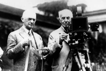 Fundador George Eastman e Thomas Edison - 1920s.