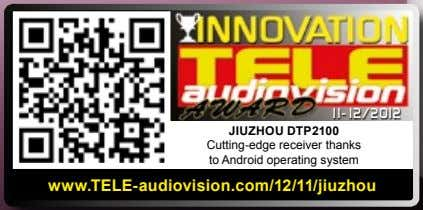 11-12/2012 JIUZHoU DTp2100 Cutting-edge receiver thanks to Android operating system