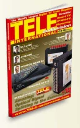 Wiese Editor-in-Chief TELE-audiovision International Address TELE-audiovision International, PO Box 1234, 85766