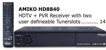 AMIkO HD8840 HDTV + PVR Receiver with two user defineable Tunerslots 14