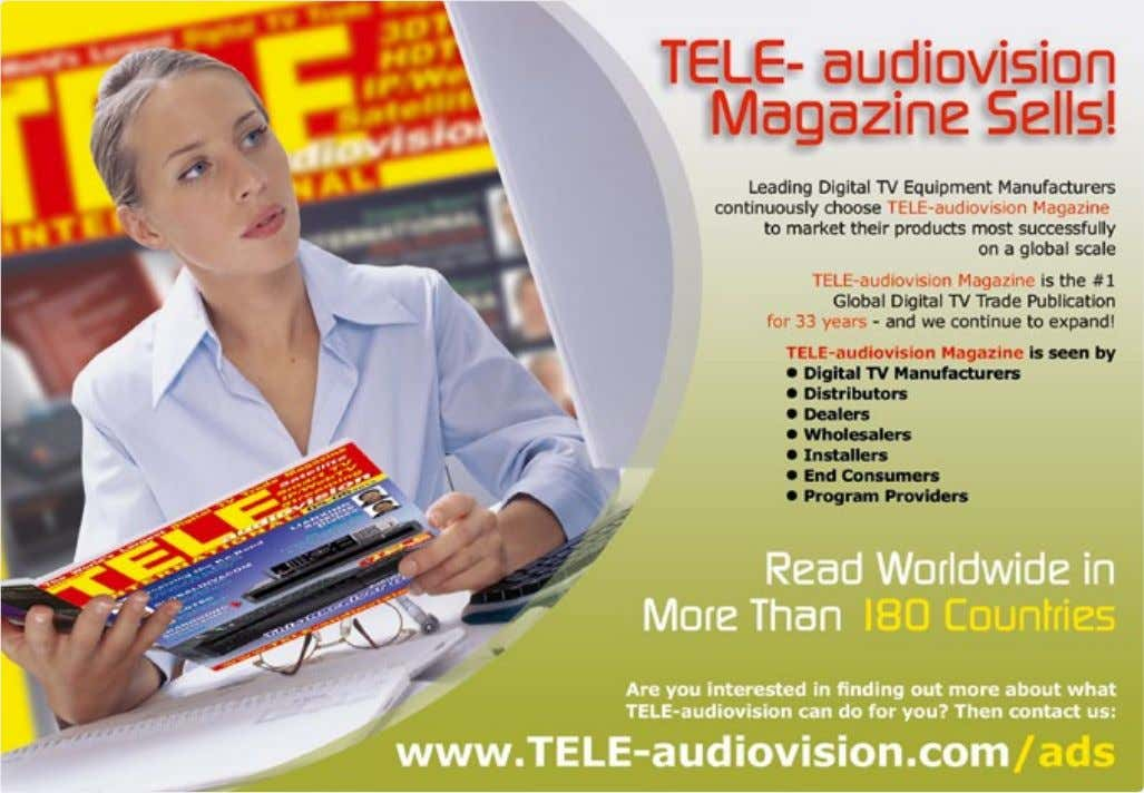 93 JIUZHOU China 228 VSAT2013 Uk 103 1 0 TELE-audiovision International — The World's