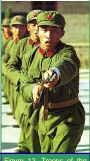 pictures of citizenry undergoing training and manoeuvres. Figure 13. Figure 12 .Troops of the Chinese People's