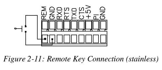 Figure 2-11: Remote Key Connection (stainless)
