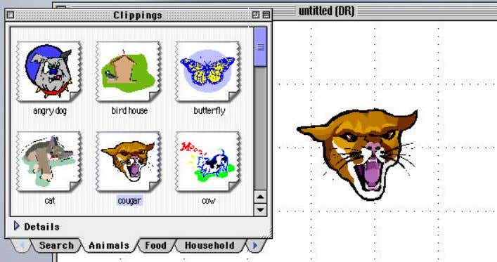 the clip art into your document, just click and drag it in. Step eight: Clip art
