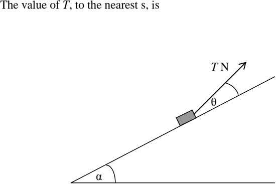 The value of T, to the nearest s, is T N θ α