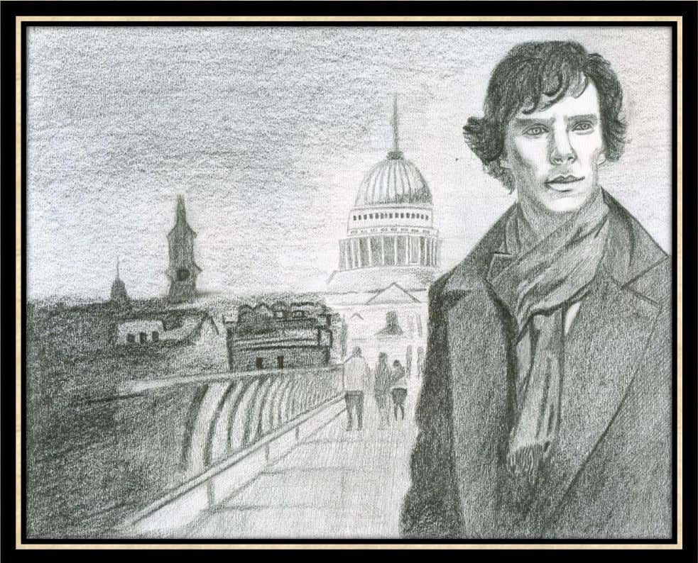 sketch to print. A Portrait of the Modern Sherlock Holmes The sketch is based on BBC's