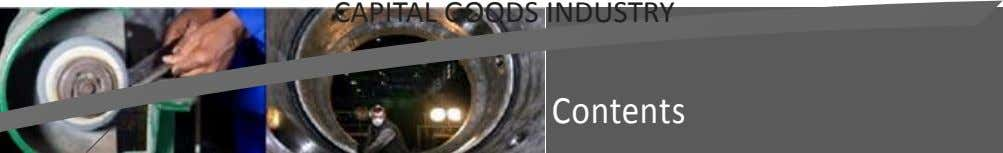 CAPITAL GOODS INDUSTRY Contents