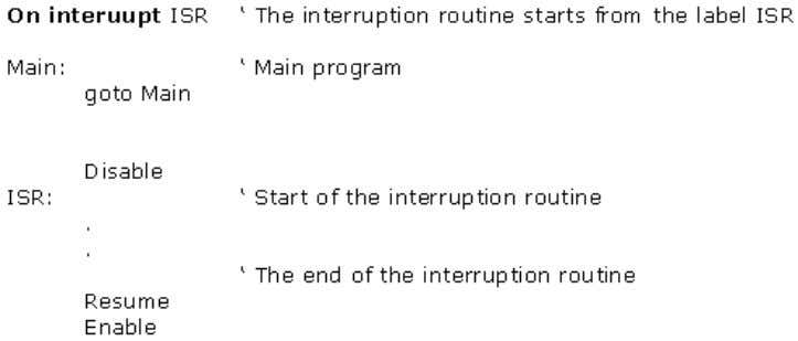 i.e. from which label the interruption routine starts. 2.16 RES UME RESUME Return from the interruption