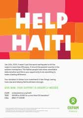 HELP HAITI Jan 12th, 2010. it wasn't just the worst earthquake to hit the region