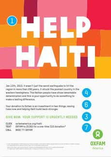 1 HELP HAITI Jan 12th, 2010. it wasn't just the worst earthquake to hit the