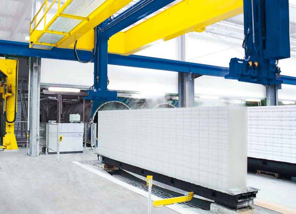 machine • Cubing installation • Packaging machine Filling of the autoclaves: The blocks are moved into