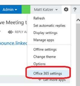 "365 settings"" (Figure 2-34 ) 3. Follow these steps Figure 2-34. Office 365 software download Step"