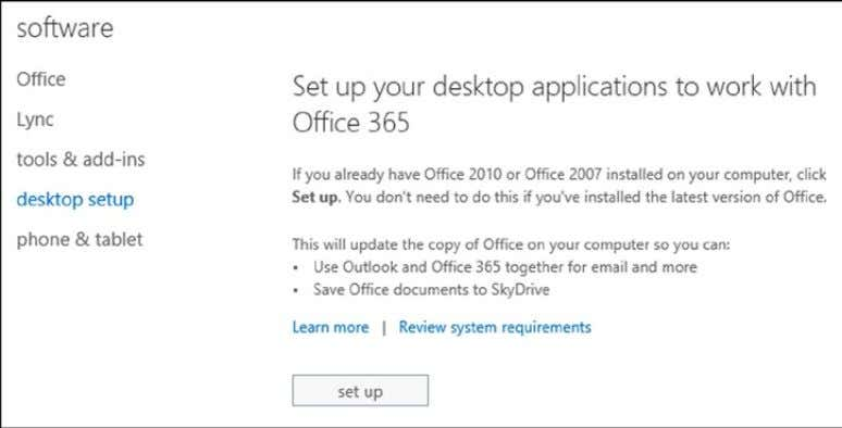 Chapter 2 ■ Using OffiCe 365 and WindOWs intUne Figure 2-37. Installing desktop setup 4. After