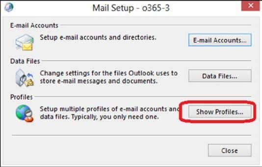 "changing mail profile 4. Select ""Profiles"" (see Figure 2-42 ) Figure 2-42. Configuring for multiple profiles"