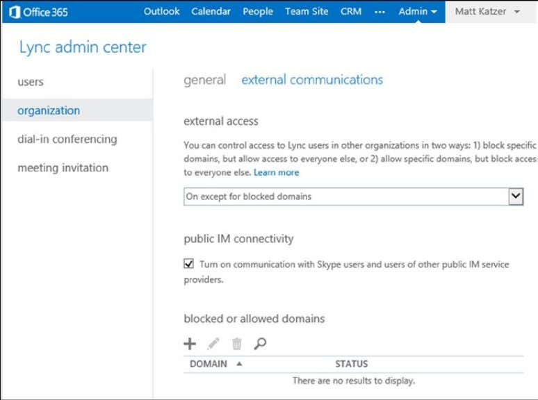 Chapter 2 ■ Using OffiCe 365 and WindOWs intUne Figure 2-67. Enabling external communications Step 2: