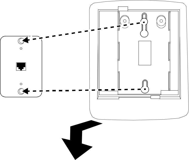 and pull downward until it is secure. (See Figure 9.) FIGURE 9 Placing the Telephone on