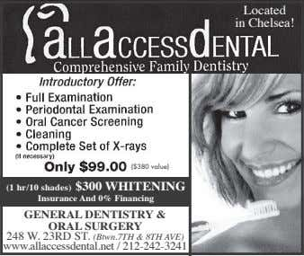 Located in Chelsea! ($380 value) (1 hr/10 shades) $300 WHITENING Insurance And 0% Financing GENERAL