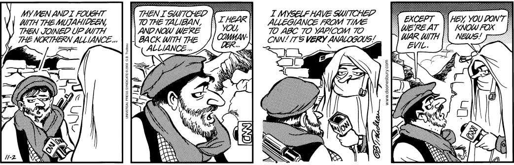 DOONESBURY ©2001 G. B. Trudeau. Reprinted with permission of UNIVERSAL PRESS SYNDICATE. All rights reserved.