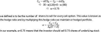 = 30 - – shares to sell for every call option. This value is known as